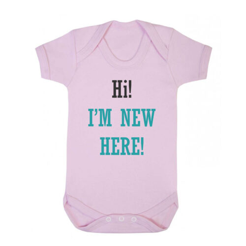 Cotton Baby Bodysuit One Piece I/'M New Here Hi