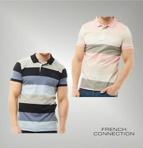 Homme-French-Connection-coupe-droite-manches-courtes-Polo-en-jersey-neuf-taille-de-S-a-XXL