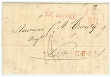 France Stampless Cover - 1828 From Le Havre to Nice - Fresh