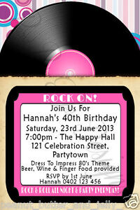 Image Is Loading ROCK N ROLL VINYL LOOK RECORD BIRTHDAY INVITATION