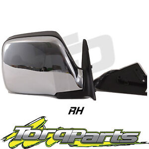 RH-SUIT-LANDCRUISER-80-SERIES-CHROME-ELECTRIC-DOOR-REAR-VISION-SIDE-MIRROR