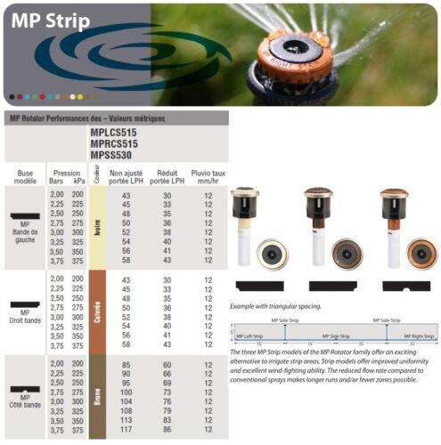 Rotative Arroseur HUNTER  1,5/>9,20m Buse MP ROTATOR STRIP SS Centre