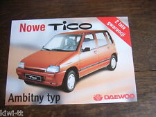 Daewoo Tico SX + DLX, Prospekt / Brochure / Depliant, PL, sehr selten!