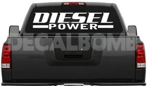 """large DIESEL POWER windshield anywhere decal ram f250 40/"""" X 8.5/"""""""
