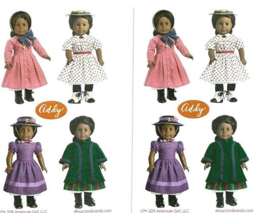 AMERICAN GIRL ADDY MINI STICKERS~2! MEET~SUMMER~WINTER COAT~SUNDAY BEST OUTFITS!