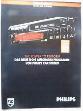 PHILIPS PROSPEKT .8 pagine, 4 fogli da 4/92,rds Autoradio programma, DC 740,730