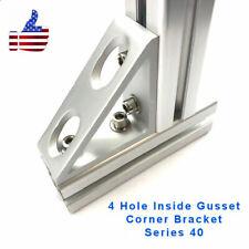 4 Hole Inside Gusset Corner 4040 8020 Aluminum Profile Extrusion Set Of 2