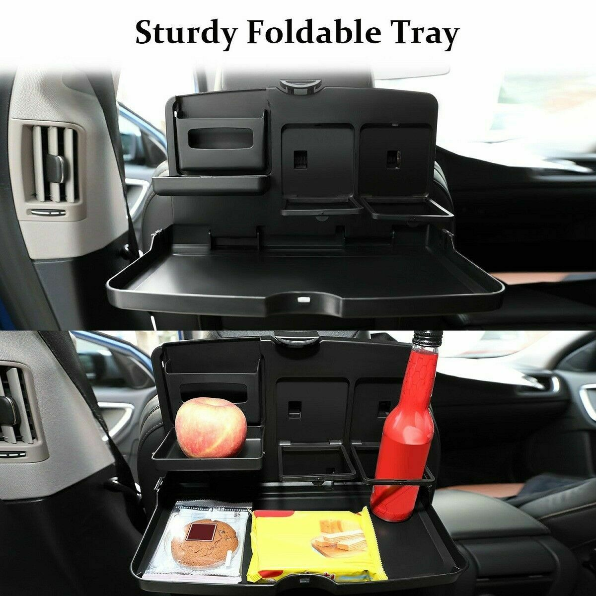 Folding Auto Car Back Seat Table Drink Food Cup Tray Rack Holder Stand Desk For Sale Online Ebay