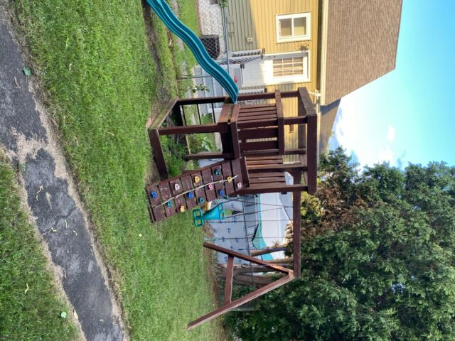 Backyard Discovery 30011COM Saratoga Wooden Swing Set for ...