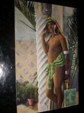 Old postcard nude north African woman 1914