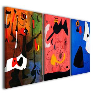 Quadri famosi Joan Mirò vol XX stampe su tela quadro moderno su ...