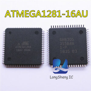 5pcs-ATMEGA-1281-16-au-IC-Microcontroleur-Unite-8BIT-128-Ko-Flash-64-TQFP-New