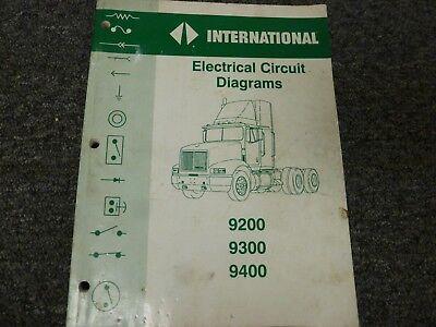 19931995 international 9200 truck electrical wiring diagrams manual 1994   ebay