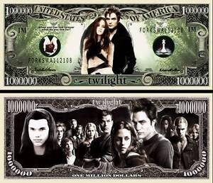 Bing Crosby Million Dollar Bill Fake Play Funny Money Novelty Note FREE SLEEVE