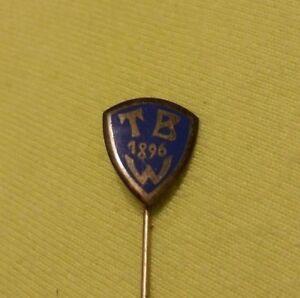 alte Anstecknadel Abzeichen TB W 1896  silber 935