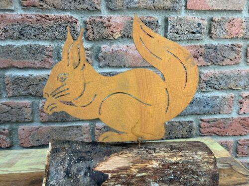 Edelrost Eichhörnchen zum Schrauben ca.25x21cm Deko Geschenk Selbstgestaltung