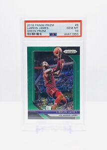 2018-19-PANINI-PRIZM-GREEN-LEBRON-JAMES-6-PSA-10-GEM-MINT-LAKERS