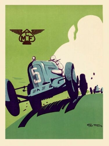 MCF Car Automobile Race Grand Prix Sport Europe Vintage Poster Repro FREE S//H