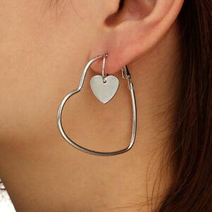 hearts Gold /& silver loop earrings.