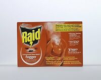 Raid 81590 3-count Concentrated Deep Reach Fogger, New, Free Shipping