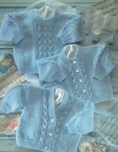 c2236ea51 Baby Cardigans   Sweaters Knitting Pattern Copy Cable like Design 8 ...