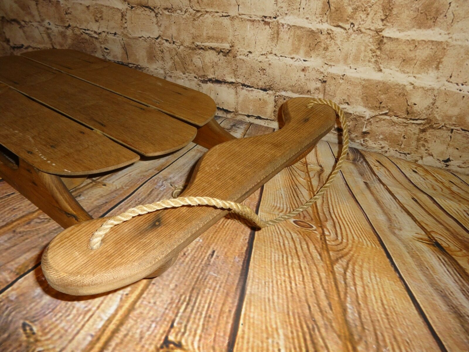 Rustic Wooden Snow Sled Cabin Decor Vintage Vintage Vintage Home Winter Holiday Country 30  ddb293