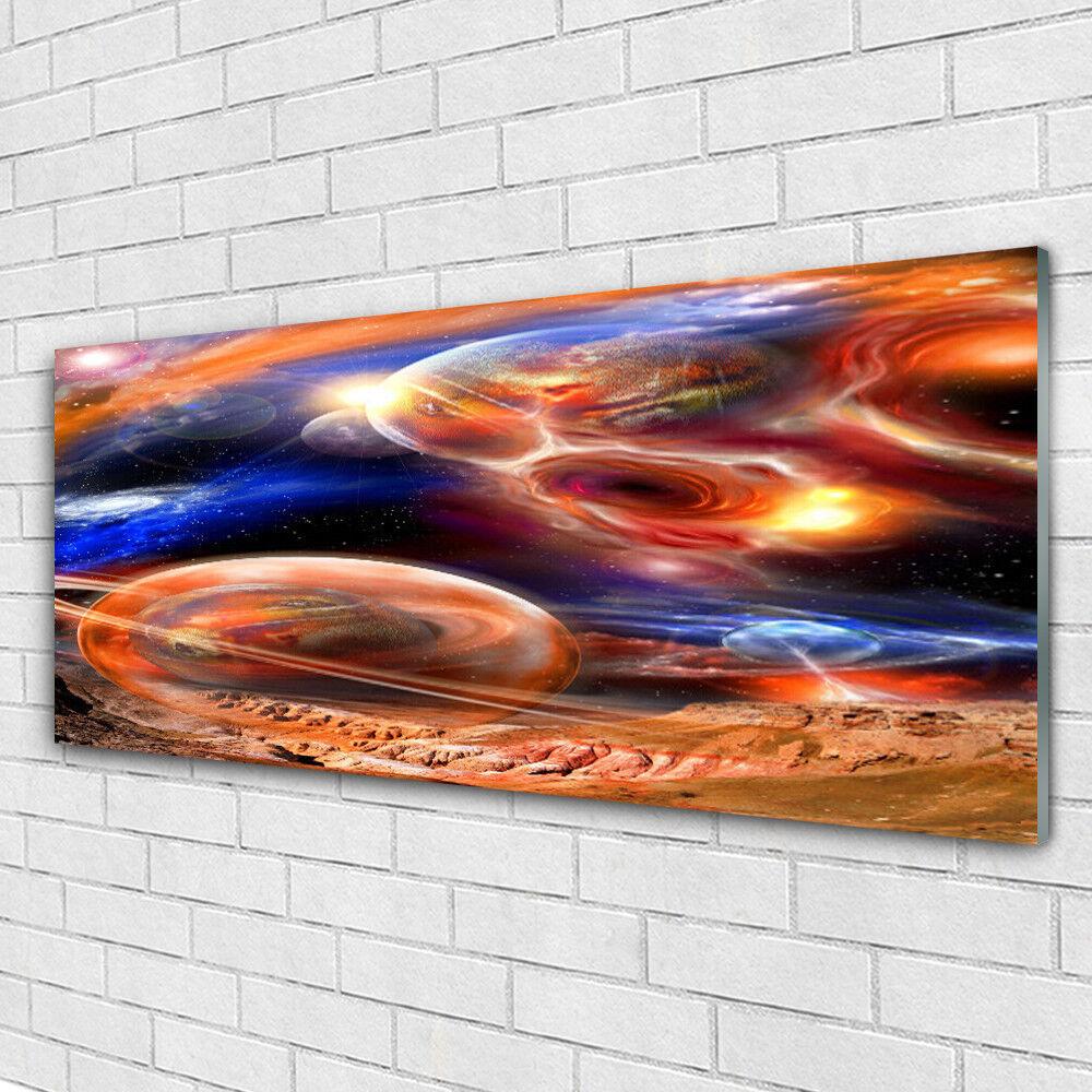 Impression sur verre Wall Art 125x50 Photo Image Abstrait Univers