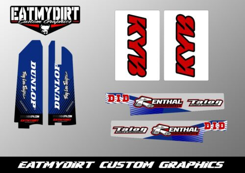 FOR YAMAHA YZ 9602 SWING ARM UPPER AND LOWER FORK GRAPHIC DECALS STICKERS MX