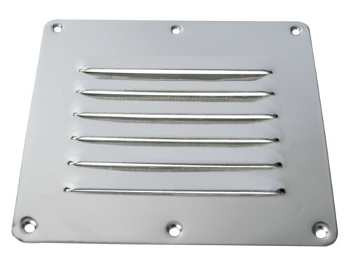 Rectangular Amarine-made Stainless Steel Stamped Louvered Vent US SHIP EAN