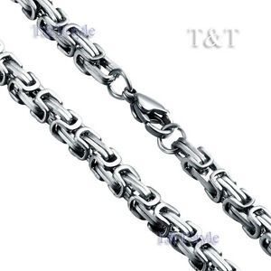 T-amp-T-5mm-316L-Stainless-Steel-Square-Chain-Silver-C06