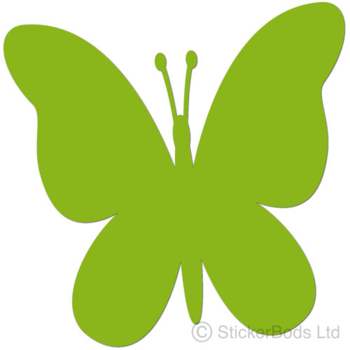 36 LIME GREEN BUTTERFLY STICKERS DECALS for CarWallHome