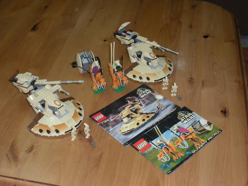 Lego Star Wars BATTLE OF NABOO 7155, 7115 lot please read description