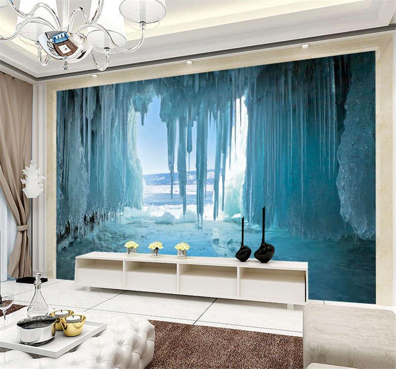 Ice Lake Baikal Gredto Cave Full Wall Mural Photo Wallpaper Print Home 3D Decal