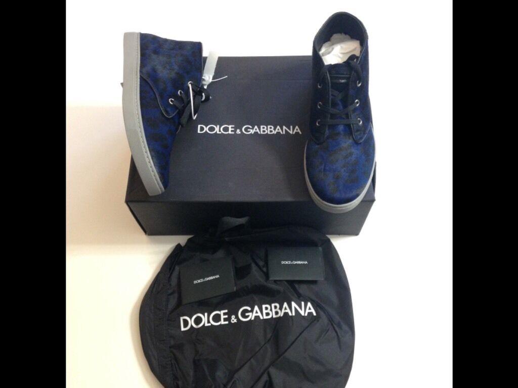 Scarpe casual da uomo  Dolce Gabbana sneakers uomo nuove Numero 42 in pelle e vero pelo