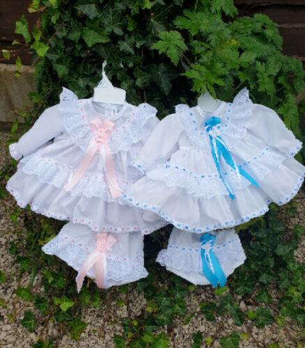 Dream 0-3 anni tradizionale Frilly compensate Baby Vestito e mutandine o Bambola Reborn