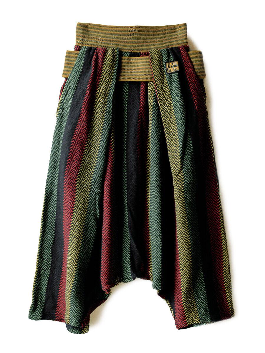 KAPITAL  Dual-Layered T-cloth Rasta Herringbone Shimokita Sarrouel Pants  Men's