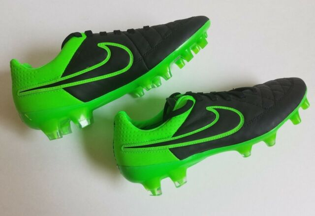 hot sale online 4250f 6f505 Nike Tiempo Legend V FG Black Green Strike Oregon Ducks 631518 003 Size 4
