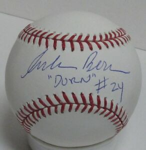 "CORBIN BERNSEN Signed Baseball AUTO w/ ""Dorn #24"" MAJOR LEAGUE Movie - JSA"