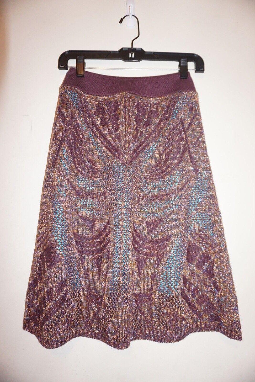 Anthropologie Cecilia Prado Lumi Midi Sweater Skirt sz PS NWT