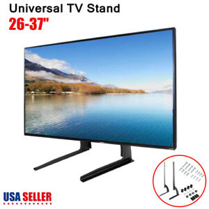 UNIVERSAL-TV-STAND-BASE-TABLETOP-VESA-MOUNT-FOR-LCD-LED-PLASMA-TV-26-37-034-Holder