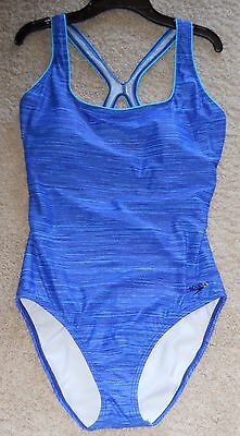 Speedo Swimsuit Racerback Blue New 12