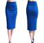 Ladies-Plain-Office-Womens-Stretch-Bodycon-Elegant-Midi-Pencil-Skirt-Dress-S-XXL thumbnail 14