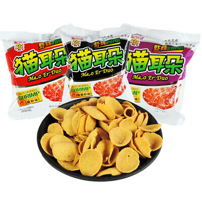 【潘氏兄弟 猫耳朵158g*2包 酱烧虾味】河北80后90怀旧休闲零食Chinese Food Orecchiette 8090 classic Snacks