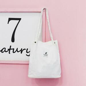 Casual-Women-039-s-Canvas-Corduroy-Tote-Bags-Handbag-Ladies-x-1-Shoulder-Bag