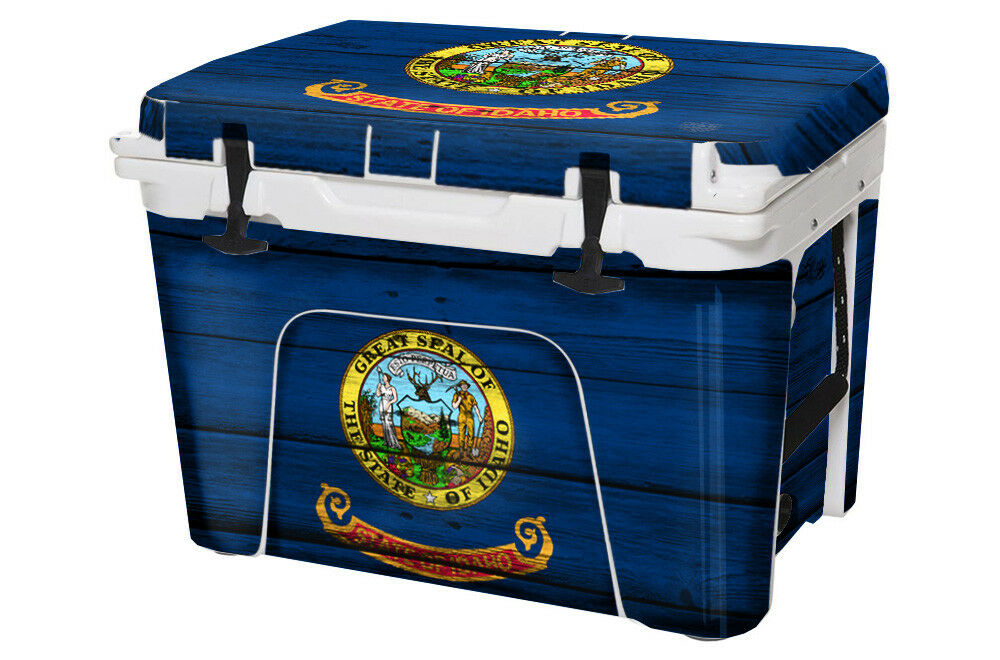 USATuff Cooler FULL Wrap Decal fits YETI Tundra 50qt FULL Cooler Idaho Flag WD 5b2a6f