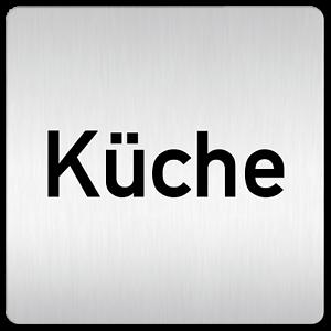 """Details zu Aluminium Schild """"Küche"""" 10 x 10 mm • Türschild Schild"""