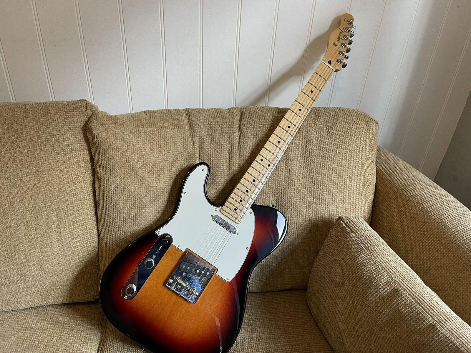This pre-owned left handed Fender Telecaster guitar is for sale - Fender Player Telecaster Left Handed With Upgraded Bridge & Saddles - Mint