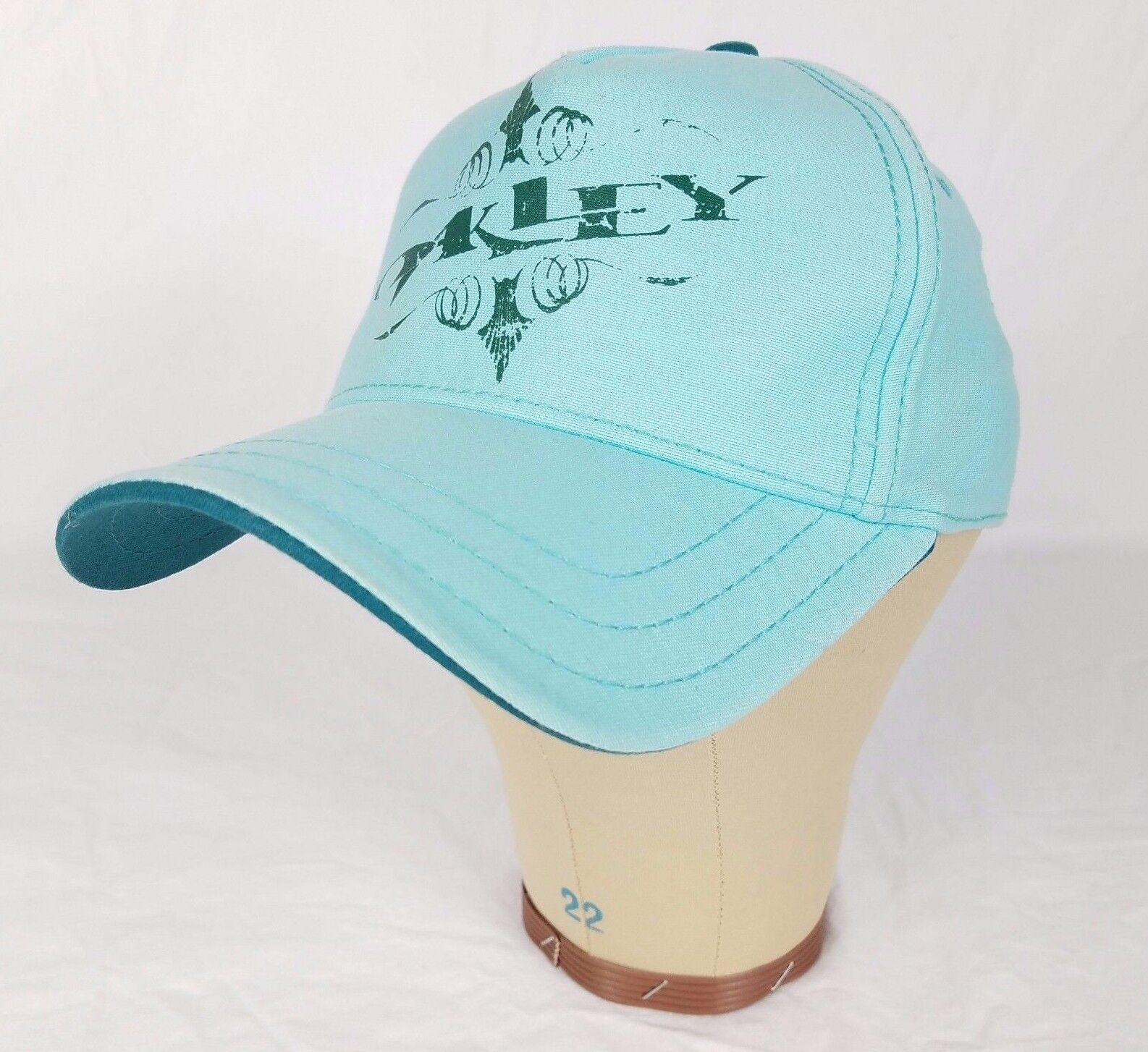 Oakley A-Flex Baseball Fit Light Blue Fitted Baseball A-Flex Cap Hat S/M Small/Medium 42663d