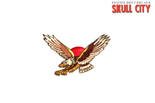LIQUOR BRAND OLDSCHOOL EAGLE PATCH Aufnäher Rockabilly Tattoo Flash American