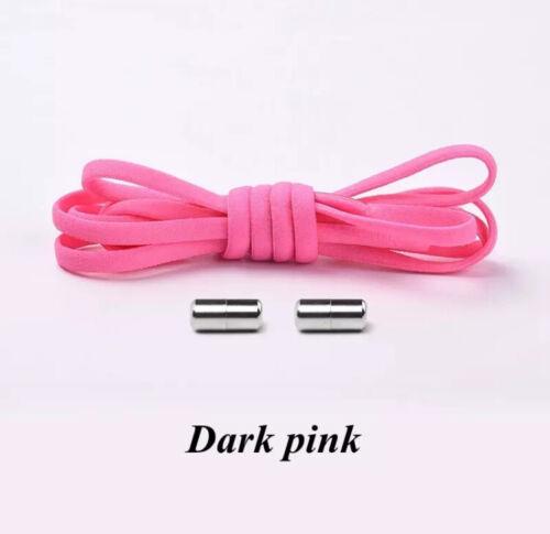 1 COPPIA non Tie elastico di bloccaggio Lacci delle Scarpe Bambini Adulto UK Venditore